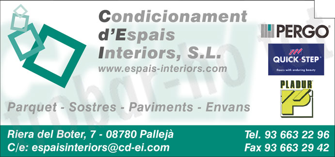 Condicionament d'Espais Interiors